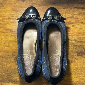 Preowned AGL Plaid Loafers  Size: 38